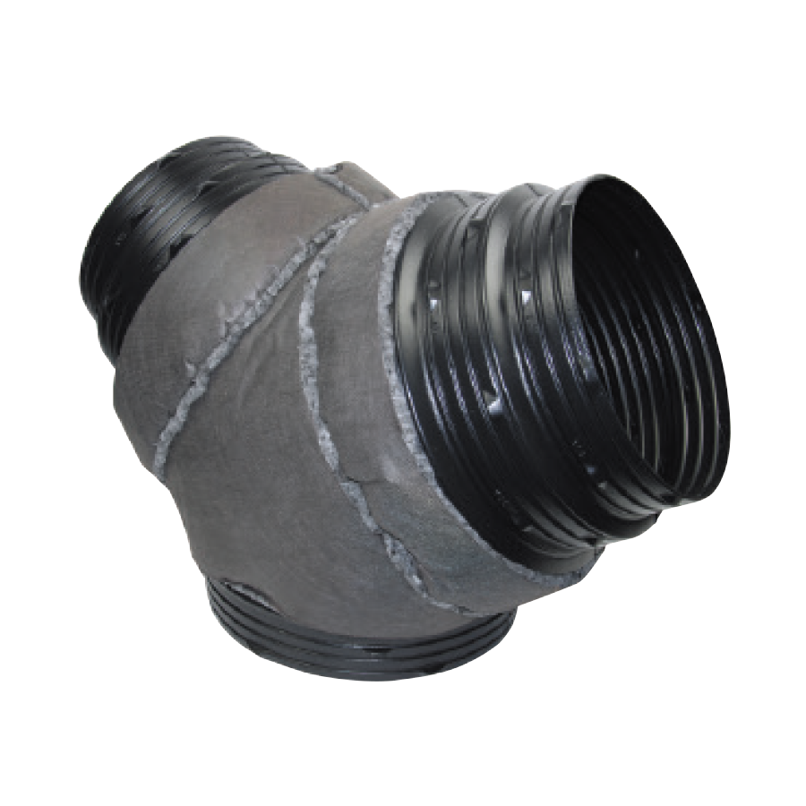 3 Way Y Duct Poly Connector Padded 350 x 350 x 350